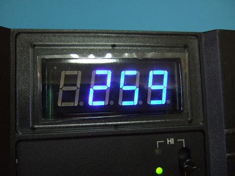 モニターの数値は259ミリボルトです。