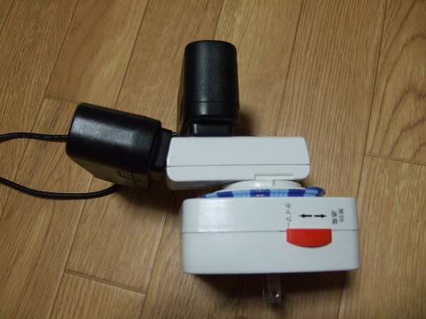 アダプターをコンセントとタイマーに接続