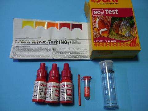 硝酸塩試薬はセラのNO3テストです。