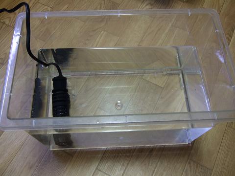 淡水浴用水槽の水温調節