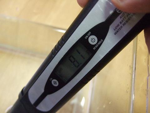 エコペーハーで実際にPHを測ってみました。