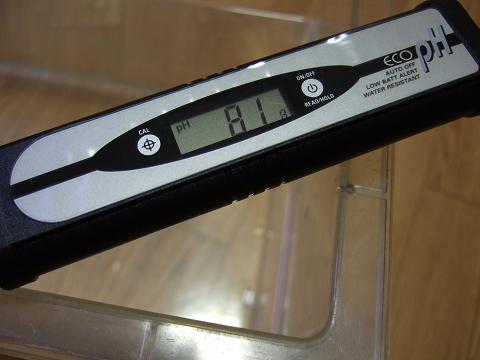 エコペーハーで簡単に、測定できました。