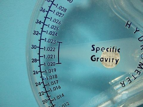 比重を測ってみました。