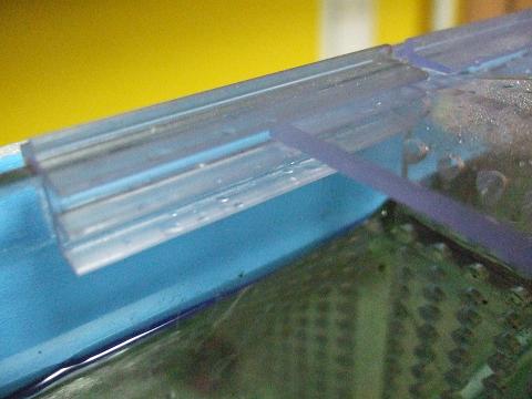 セパレーターをガラス蓋のレールの溝にはめ込みセット