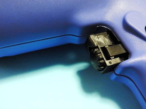 電気ドリル(日立工機 FD10VA2)の回転数調整ノブ