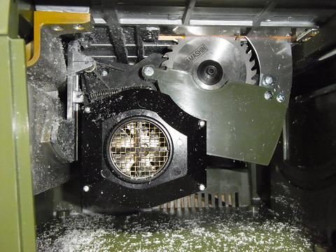 スーパーサーキュラーソウテーブルの内部の様子