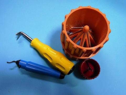 色んなタイプの面取り工具