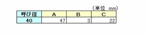 DV継手(ソケット)の各部の寸法