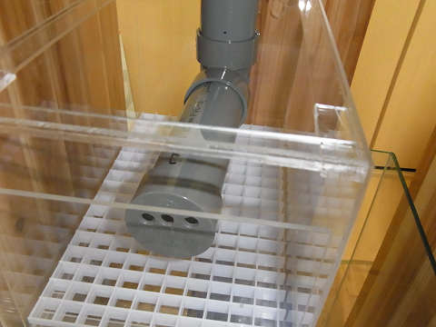 完成したシャワーパイプをウールボックスにセット