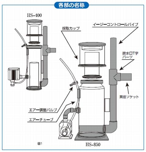 H&Sのプロテインスキマー HS-400